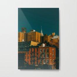 New York City Apartments (Color) Metal Print