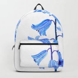 botanical bluebell flowers watercolor Backpack