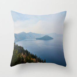 Crater Lake, Oregon Throw Pillow