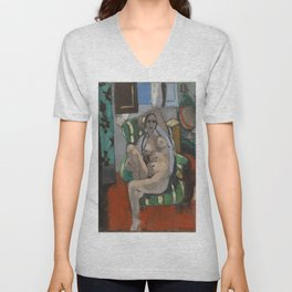 Odalisque with a Tambourine by Henri Matisse Unisex V-Neck