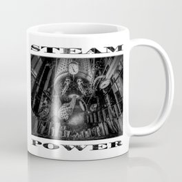 The Paddle Steamer Fireman (black & white poster edition) Coffee Mug