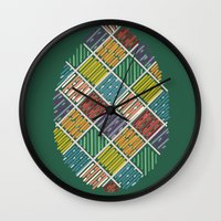 egg Wall Clocks featuring Egg by milkingsquids