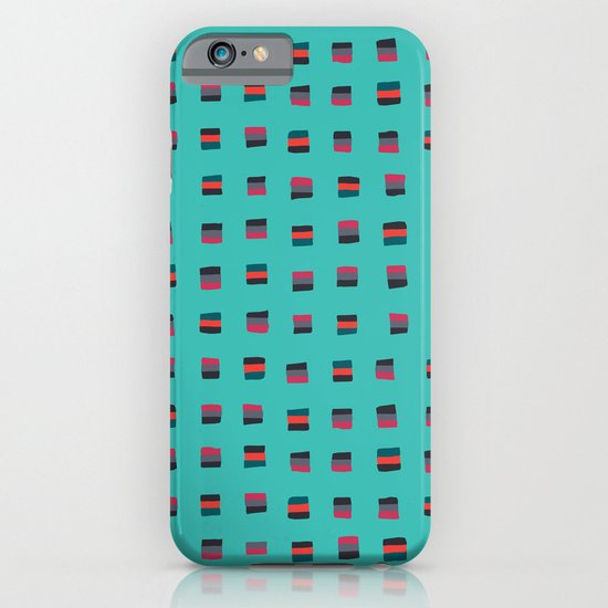 Pixel Pattern turquoise iPhone & iPod Case