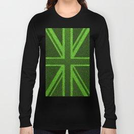 Grass Britain / 3D render of British flag grown from grass Long Sleeve T-shirt
