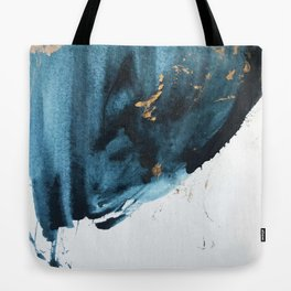 Sapphire and Gold Abstract Tote Bag