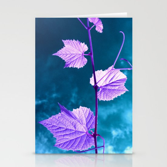 violet wine leafs II Stationery Cards