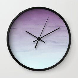 Watercolor Gradient - Purple and Mint Wall Clock