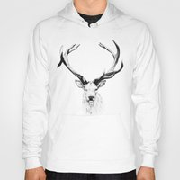 stag Hoodies featuring STAG by A.J.F