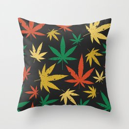 Cannabis Leaf Pattern Throw Pillow