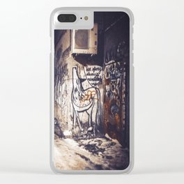 Lower East Side - Midnight Warmth on a Snowy Night Clear iPhone Case