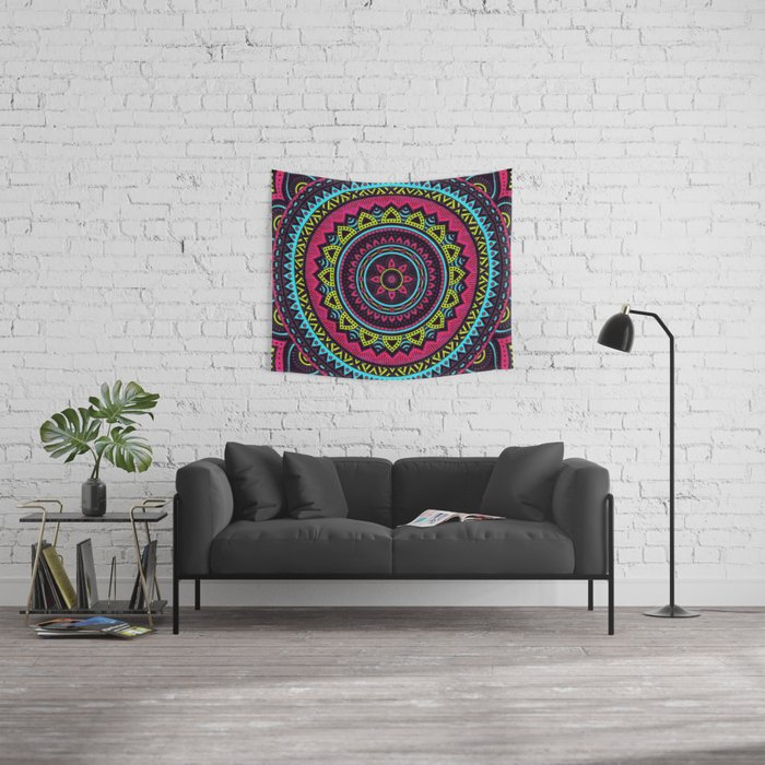 Hippie Mandala 17 Wall Tapestry
