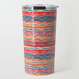 Bohemian indian Style design in red Travel Mug