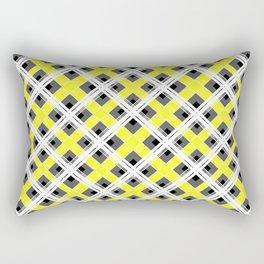 Combo black yellow plaid Rectangular Pillow