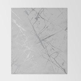 Silver Splatter 089 Throw Blanket
