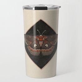 Moth Vintage Style Illustration Travel Mug