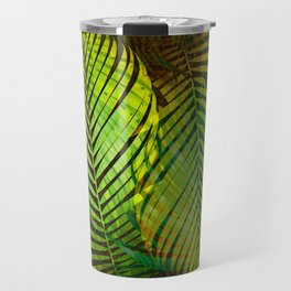 TROPICAL GREENERY LEAVES Travel Mug