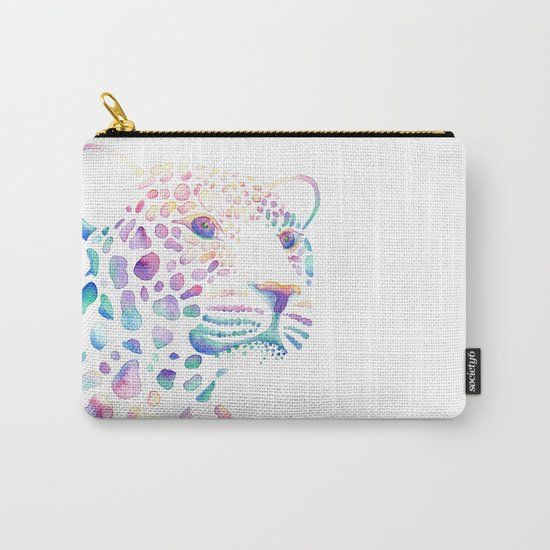 Watercolour Leopard Carry-All Pouch