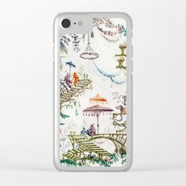 Enchanted Forest Chinoiserie Clear iPhone Case