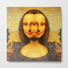 Mona Replicating Metal Print