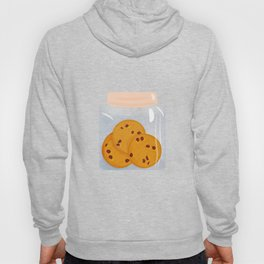 Chocolate chip cookie, homemade biscuit in glass jar Hoody