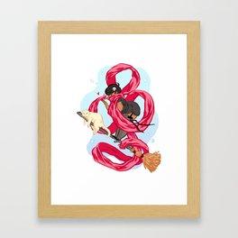 Scarf Witch  Framed Art Print