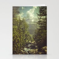 italian Stationery Cards featuring Mountain View - Italian Alps by Dirk Wuestenhagen Imagery