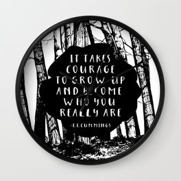 Courage (Designed for The YA Chronicles) Wall Clock