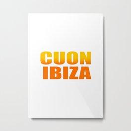 CUON IBIZA Metal Print