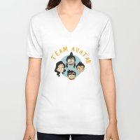 avatar V-neck T-shirts featuring Team Avatar by tukylampkin