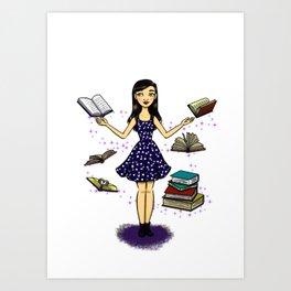 Ratona de Libros Art Print
