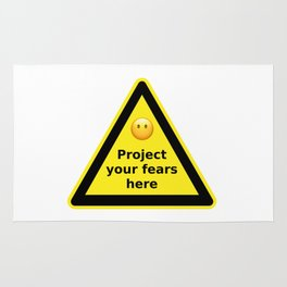 Project your fears here - danger road sign T-shirt Rug