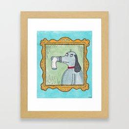 Sock-Dog Framed Art Print