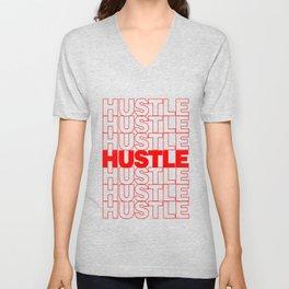 Hustle Thank You Plastic Bag Typography Unisex V-Neck