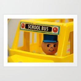 Fisher Price School Bus Art Print