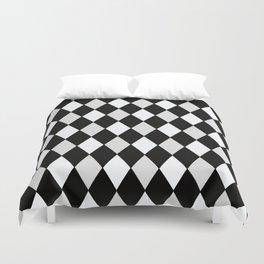 Harlequin Black and White and Gray Duvet Cover
