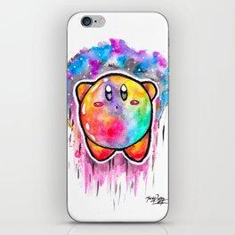 Cute Galaxy KIRBY - Watercolor Painting - Nintendo iPhone Skin