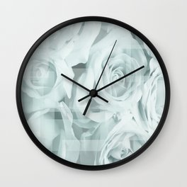 Roses collage Wall Clock