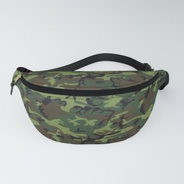 Green and Brown Camouflage Pattern Fanny Pack