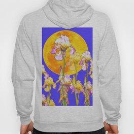 IRIS GARDEN & RISING GOLD MOON  DESIGN ART Hoody