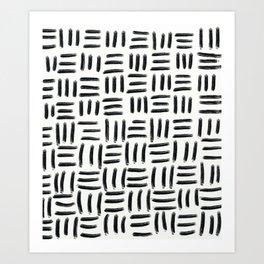 Three Stripes Pattern Art Print
