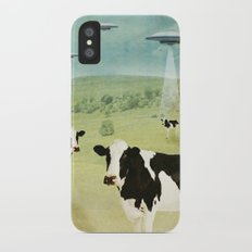 we all like burgers _ US AND THEM  iPhone X Slim Case