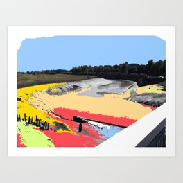 River Rother in Rye Art Print