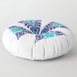 Hungarian Traditional Folk Art  Floral Modern Embroidery and Crochet Pattern Ornament Floor Pillow
