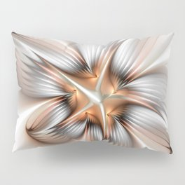 Elegance of a Flower, modern Fractal Art Pillow Sham