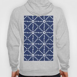 Triangle Pattern In Navy and White Hoody