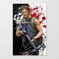 daryl dixon Canvas Prints featuring Daryl Dixon by SB Art Productions