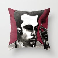 nick cave Throw Pillows featuring Nick Cave by Rafols