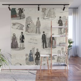 Biedermeier Couples Wall Mural