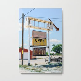 Tatum, New Mexico. Metal Print