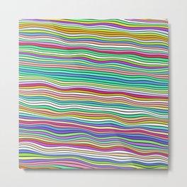 Colorful waves Metal Print